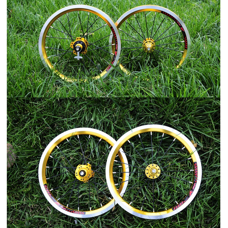 14 дюймовые колеса для велосипеда Litepro, складные колеса для велосипеда, 4 палиновых подшипника, 10 T/9 T, легкий аксессуар для ремонта