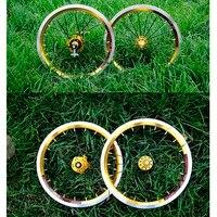 14inches Litepro Bicycle wheel Folding bike Wheelset 4 Palin Bearing 10T/9T Lightweight Refit Accessory