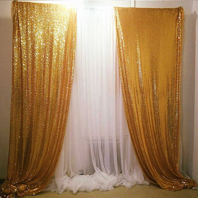 Ouro Lantejoulas De Ouro Escuro Backdrops Wedding Party Photo Booth Fundo Decoração Cortinas De Lantejoulas Cortina De Lantejoulas Painéis-629