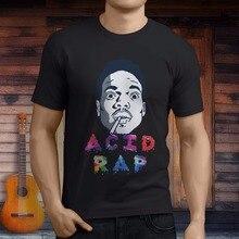 Nuevo ácido Rap Chance el rapero Rap Hip Hop hombres negro T-Shirt tamaño  asiático S 3XL impresión hombre manga corta Camiseta 2488d9b343c