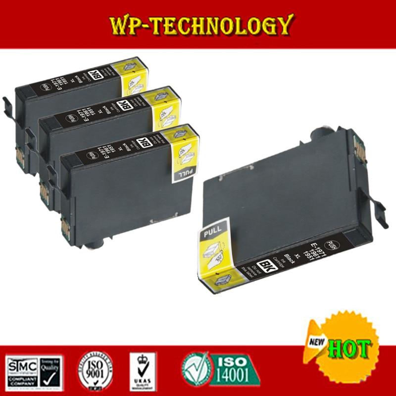 [ Wholesale ] 4PCS Black Compatible Ink Cartridge for T1971 T1961 T1951  For Epson XP211 XP101 XP201 XP204 XP401 XP104 XP214[ Wholesale ] 4PCS Black Compatible Ink Cartridge for T1971 T1961 T1951  For Epson XP211 XP101 XP201 XP204 XP401 XP104 XP214