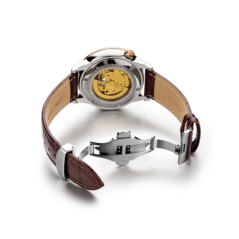 Mige 2018 Top Brand New Sale Mechenical Watch Skeleton Case Case - Տղամարդկանց ժամացույցներ - Լուսանկար 5