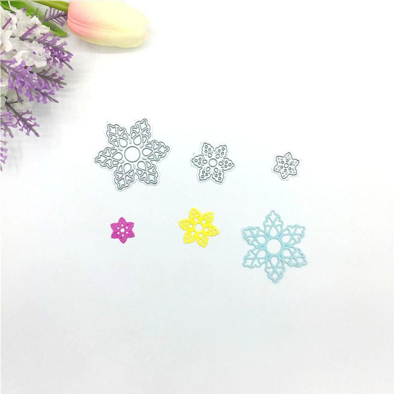 Julyarts 3pcs Snowflake Flower 2019 Dies Scrapbooking Metal Cutting Card Making Troqueles De Corte