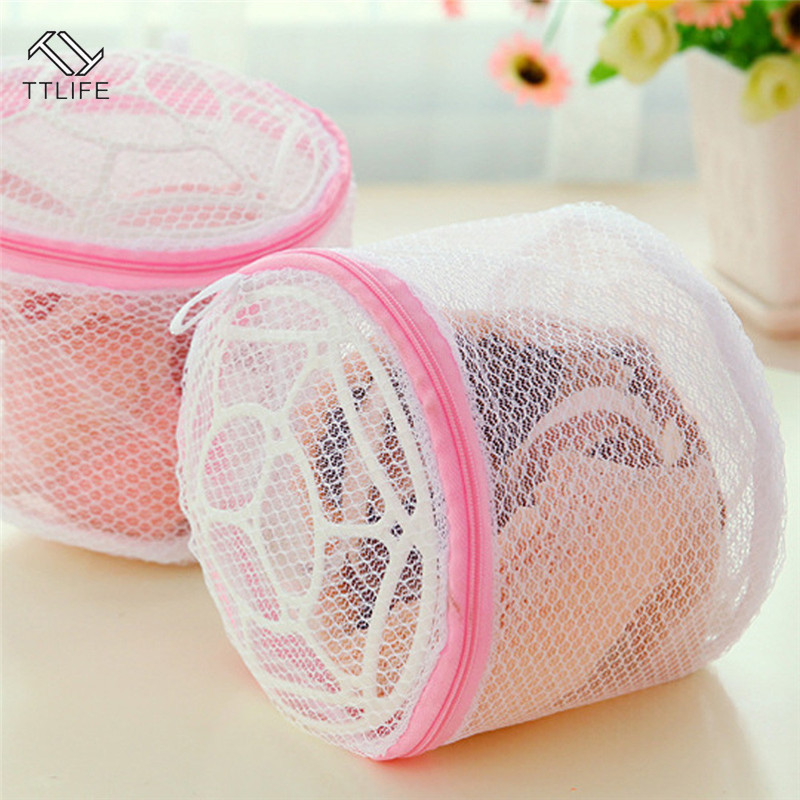 TTLIFE Lingerie Washing Home Use Mesh Clothing Underwear Organizer Washing Bag Useful Mesh Net Bra Wash Bag Zipper Laundry Bag
