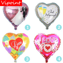 VIPOINT PARTY 18inch Love Heart Foil Balloons 10 Pieces Wedding Event Christmas Halloween Festival Birthday Party HY-319