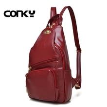 Брендовые женские рюкзак, довольно стиль Школьный рюкзак для девочек-подростков школьные сумки для подростков, Искусственная кожа Рюкзак Красный