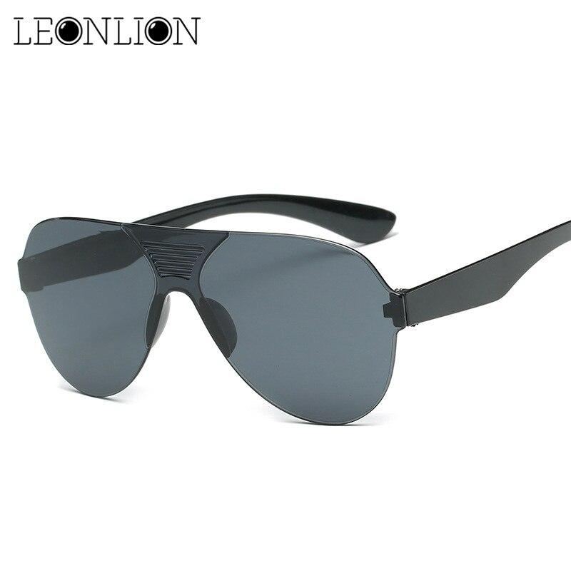 Leonlion 2018 Pilot One-piece Classic Sunglasses Man Colored Driving  Sun Glasses Women/Men Brand Designer Vintage UV400