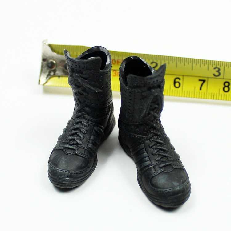 TD73-17 1/6 женские черные сапоги модели для 12''Action Figures тела аксессуары