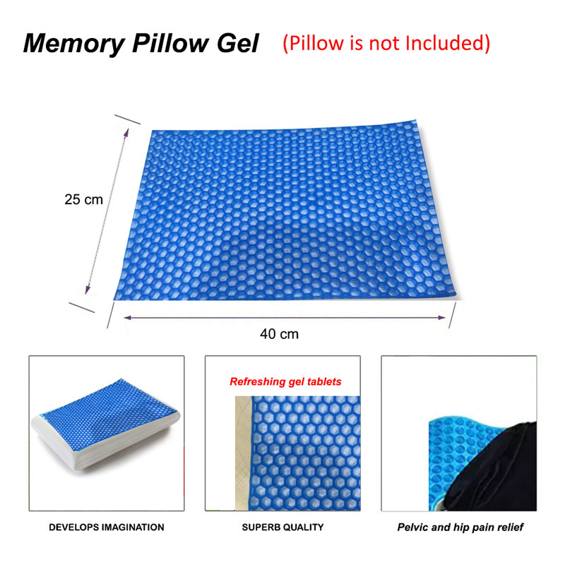 Image 5 - Memory Pillow Foam White Bed Gel Pillow Blue Cooling Orthopedic Cushion for Sleeping Travel Neck Fatigue Relief Outdoor Cushion-in Bedding Pillows from Home & Garden