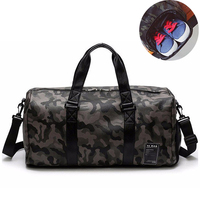 Pu Leather Gym Bag Male Bag Top Sport Shoe Bag for Women Fitness Over The Shoulder Yoga Bags Travel Handbags Camouflage XA734WD