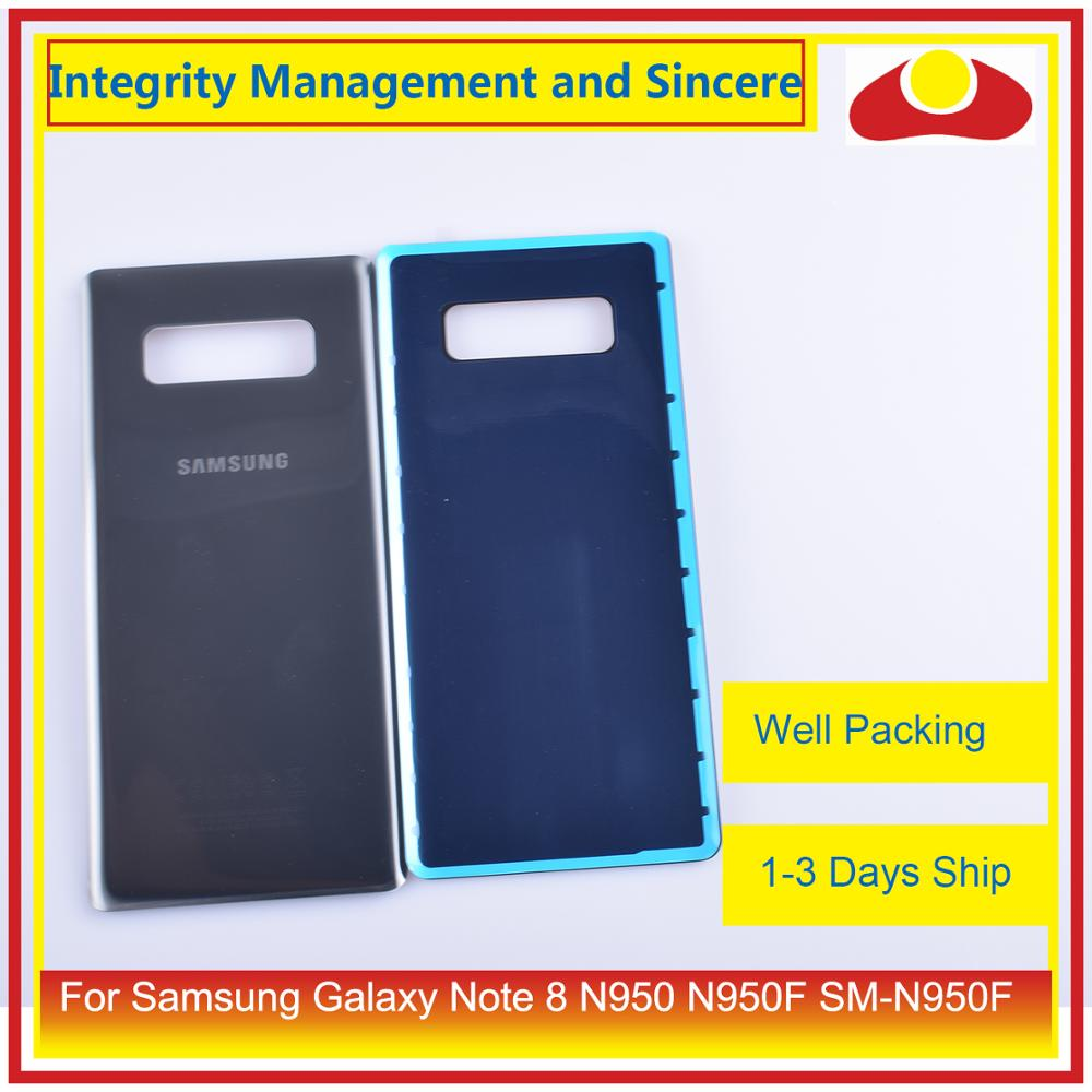 Image 5 - 50Pcs/lot For Samsung Galaxy Note 8 N950 N950F SM N950F N9500 Housing Battery Door Rear Back Glass Cover Case Chassis Shell-in Mobile Phone Housings & Frames from Cellphones & Telecommunications