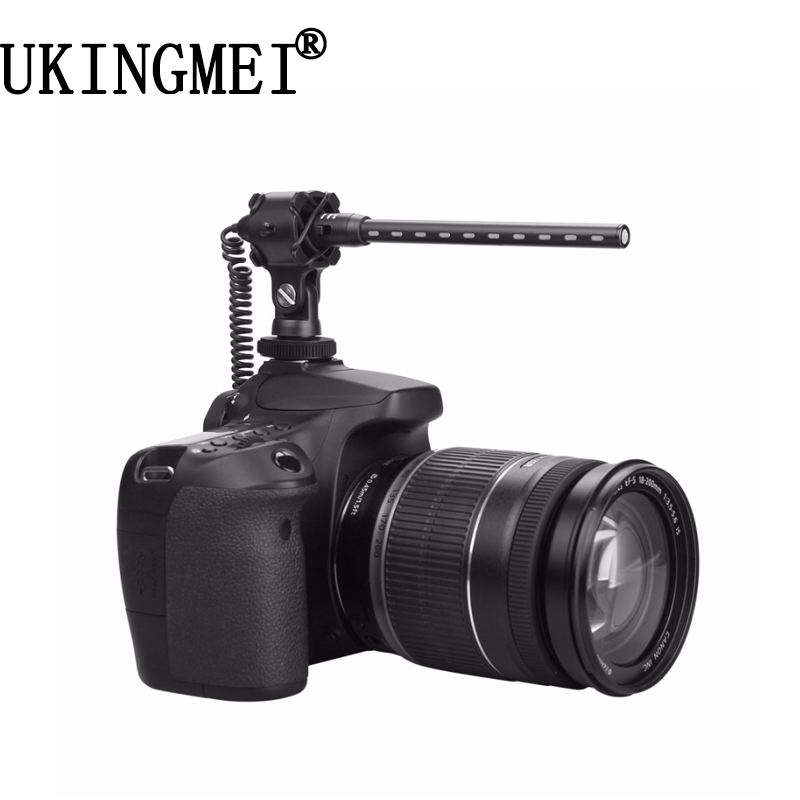 все цены на UK-E188 professional microphone for photography interview recording SLR DV camcorders camera shotgun style microphone онлайн