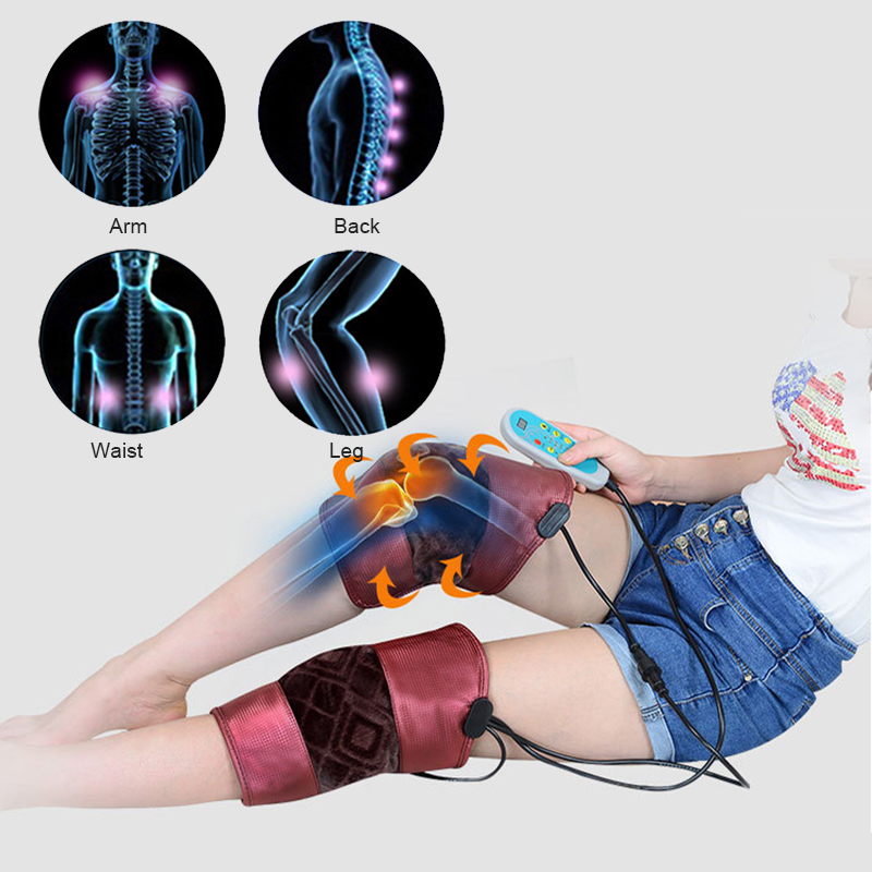 Electric Kneepad Braces Hot Compress Moxibustion Health Care Legs Multi-functional Heating Vibration MassagerElectric Kneepad Braces Hot Compress Moxibustion Health Care Legs Multi-functional Heating Vibration Massager