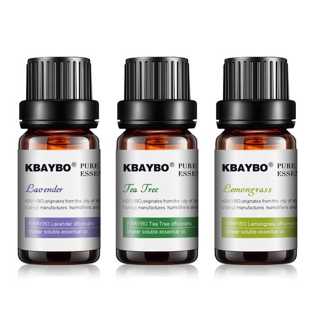 Essential Oil for Diffuser,Water-soluble Oil for Aromatherapy Humidifier 3 Kinds Fragrance of Lavender, Tea Tree,Lemongrass 3