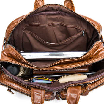 WESTAL Multifunction Men Backpack Genuine Leather School Laptop Backpacks for Teenager Travel Backpacks anti theft backpack 432