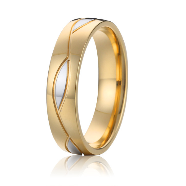 2015 health titanium steel jewelry rings europe vintage gold colour wedding band promise ring for men anel