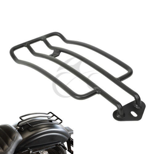 Black Solo Seat Luggage Shelf Frame Rack For Harley Sportster XL 883 ...