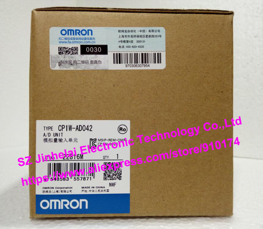 New and original  CP1W-AD042   OMRON PLC Analog input unit new and original e3x da11 s omron optical fiber amplifier photoelectric switch 12 24vdc