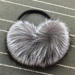 Winter Women Warm Real fox Earmuffs Girl's Earlap Ultralarge Ladie's Plush Ear Muff female fox fur lady fur Earmuffs Ear cover