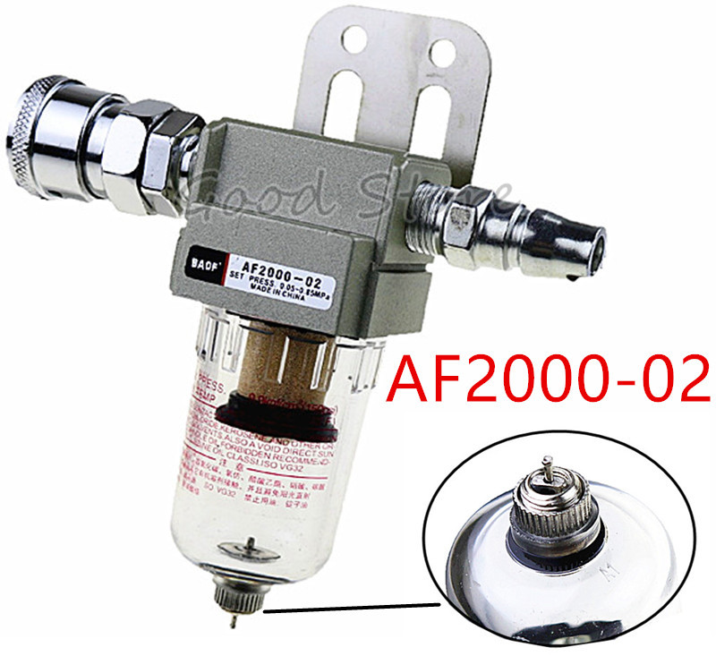 AF2000-02 Dryer Oil and water filter Pneumatic Compressor Air Source Treatment Filter PM20+SM20 af2000 g 1 4 air filter pneumatic parts air source unit for compressor oil water separation airtac type sanmin