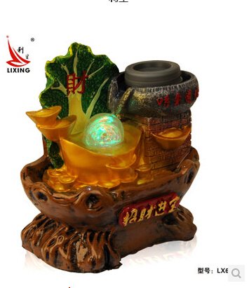 Opening gifts water bonsai fountain feng shui home decoration round lucky - Bl & Hi store
