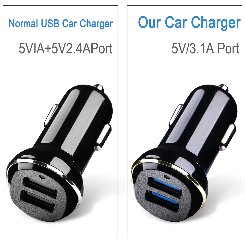 CASEIER 3 1A Fast Car USB Charger For iPhone XS Max XR 8 7 6 6s Plus Charging For Phone 2 Port Charger For Samsung Huawei In Car in Car Chargers from Cellphones Telecommunications
