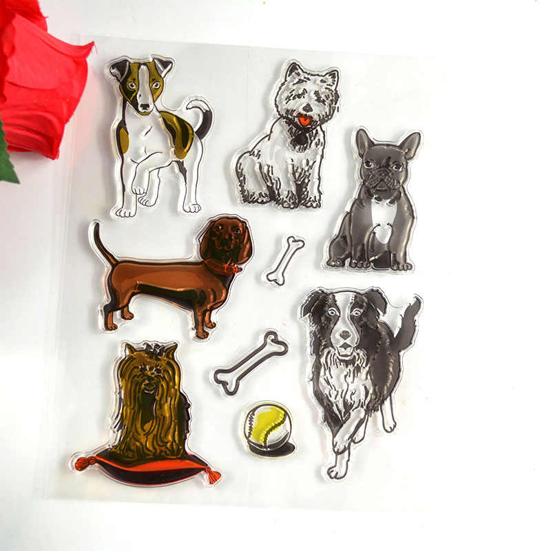 Dog Transparent Clear Stamps / Silicone Seals for DIY scrapbooking photo album/Card Making