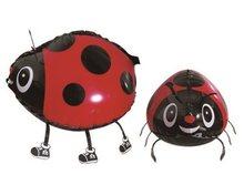10pcs lot 3 Colour Large Ladybug Pet Walking Animals Helium Mylar Balloons Kids Gift Party Decoration