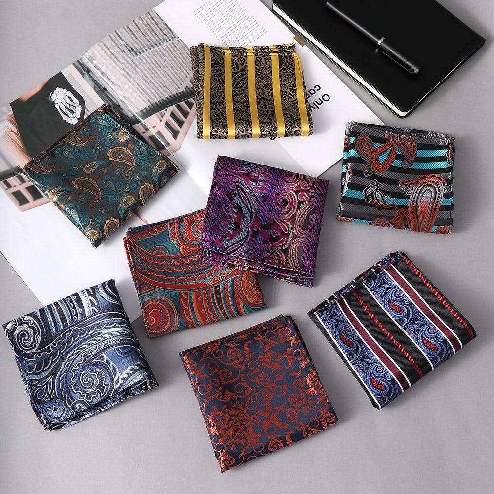 HOT 8 Piece Men/'s Floral Handkerchief Pocket Square Polyester Silk Wedding Party