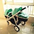Alta qualidade Motherknows gêmeos carrinho de bebê luz da frente e traseiros dobráveis alta qualidade two-way carrinho de seis brindes