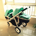 High quality Motherknows twins baby stroller front and rear folding light high quality two-way trolley six free gifts