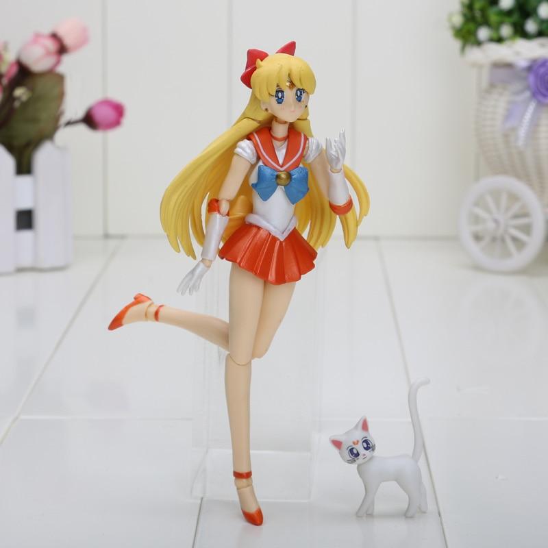 15cm 6inches Anime Sailor Moon Mercury Mars Venus tuxedo mask PVC Action Figure Toy Christmas gifts