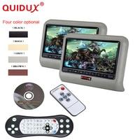 QUIDUX 2PCS 9 Inch DVD Player Car Headrest 800 X 480 LCD Backseat Monitor Full Functional
