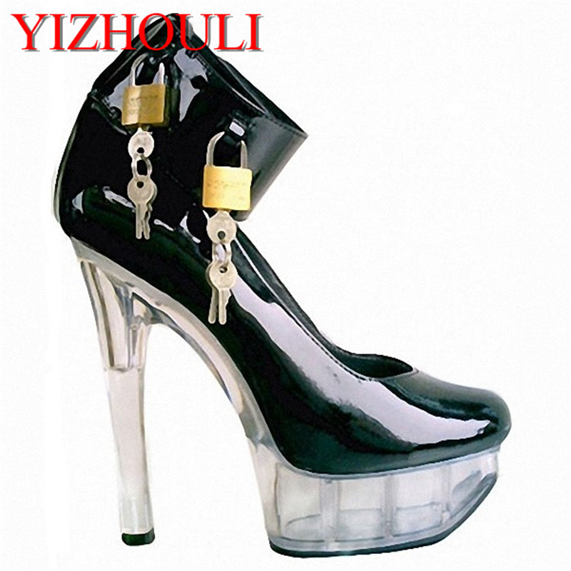 15cm show crystal shoe bottom baotou response bare metal decoration high heels D-057 15 690 after dinner show