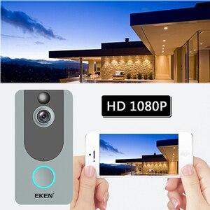 Image 3 - EKEN V7 door bell camera 1080P wifi doorbell IP Smart Wireless Security FIR Motion Detection Alarm Cloud storage house bell