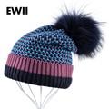 2017 de Invierno de punto de lana sombreros para las mujeres de la gorrita tejida skullies mujeres knite cap gorros chica capó femme ocio sombrero de las señoras gorro