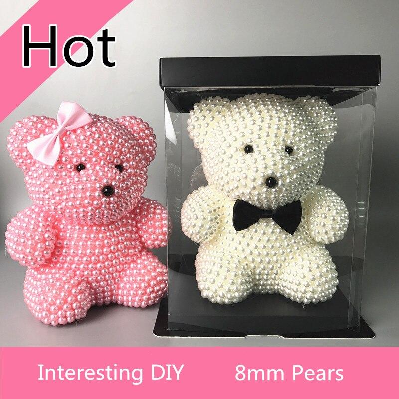 1 pièce bricolage perle ours Kit 150mm mousse ours pour cadeau d'anniversaire créatif différentes couleurs 8mm poires intéressant bricolage