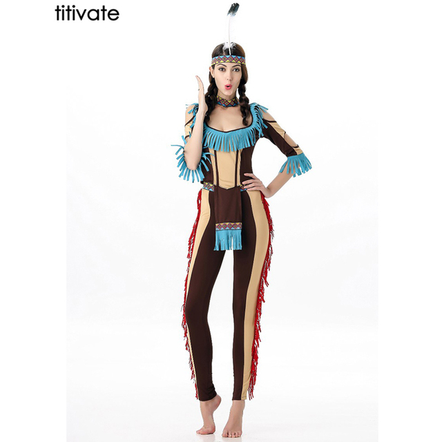 Titivate Native American Tribe Indian Princess Women Costume
