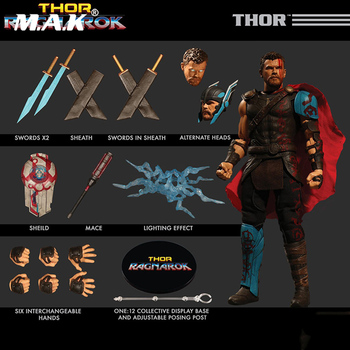 Collectible 1/12 Scale Full Set Thor Ragnarok Action figure Doll Figure Weapon Model for Fans Holiday Gifts touken ranbu online nakigitsune 1 8 scale pre painted figure collectible model toy 20cm