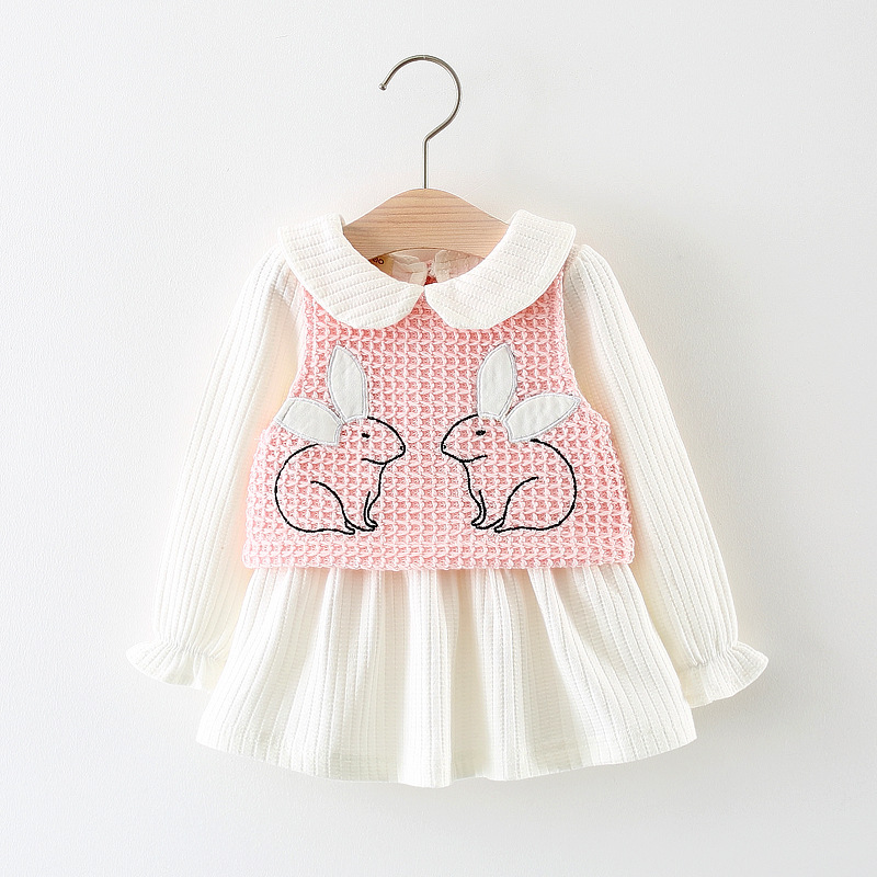 Newborn Infant Girl Clothes Cute Rabbit vest Dresses for Girls Vestidos Cotton Baby Clot ...