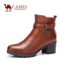 Camel 2015 New Winter Warm Boots Waterproof Windproof High Heel Boots Female A54196617