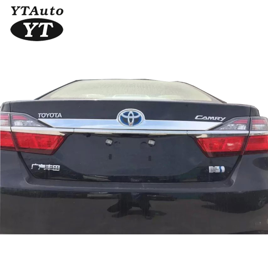 High Quality 2015 Rear Trunk Rim Moulding Rim Rear Protector ABS Chrome For TOYOTA Camry YT-71020 high quality abs chrome rear bumper scuff trim for 2015 toyota highlander