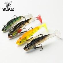 W.P.E Lead Head Soft Lure 8cm/10cm/12cm/14cm Bass Fishing Swimbait 1pcs 9g-42g Jig Treble Hook Tackle Pesca