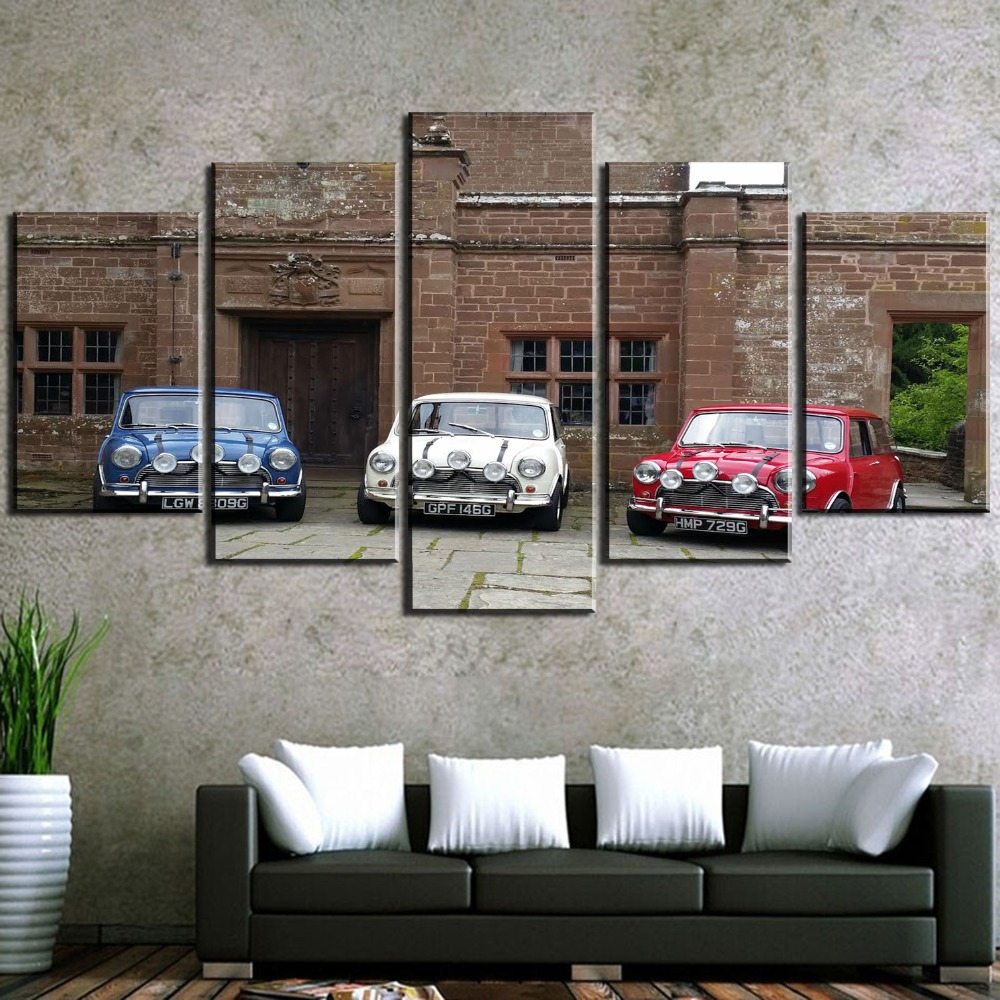 5 Pieces HD Printed MiNi Car Print Picture Poster Painting Canvas Wall Art Picture Home Decoration Living Room Canvas Painting in Painting Calligraphy from Home Garden
