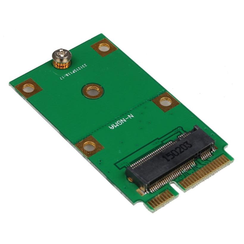 Advanced 2017 Computer Adapter Mini PCI-E 2 Lane M.2 NGFF 30mm 42mm SSD To 52pin mSATA Adapter Card Gifts factory price mosunx 2 in 1 mini pci e 2 lane m 2 and msata ssd to sata iii 7 15 pin adapter drop shipping drop shipping