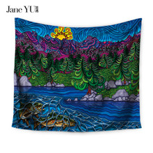 JaneYU Home Decoration Tapestry Wall Hanging Hippie Throw Bohemian Bedspread Cover Set Tapestries each towel blanket bedspread eponj home bedspread