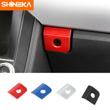 Auto Car Passenger Co-driver Side Storage Box Switch Button Cover Trim Styling Decoration Sticker Fit For Ford Mustang 2015-2018(China)