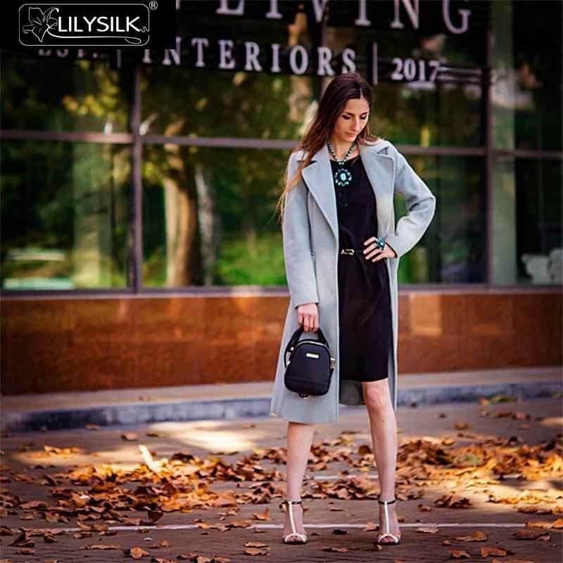 ... LILYSILK Dress Little Black Silk Classic Cap Sleeve With Belt Ladies  Free Shipping ... fad876087ae7