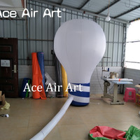 Customized huge bulb balloon inflatable light bulb model,lamp bulb replica with colorful lights for sale by Ace Air Art