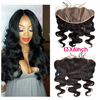 8A Grade Lace Frontals 13x6 Peruvian Virgin Hair Natural Wavy Lace Frontal Closure With Baby Hair Ear to Ear Body Wave Frontal